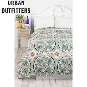 Urban Outfitters Painted Medallions Duvet Cover